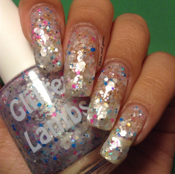 "Glitter Lambs ""Unicorns Love Milkshakes"" Glitter Topper Nail Polish #nails #glitternails #nailpolish #nailart #glitternalipolish #glitterlambs #naildesigns #unicornpolish #unicornnailpolish #unicornnails"