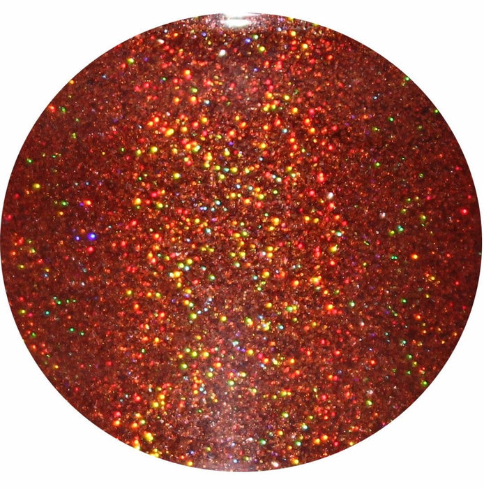 Warm & Toasty Holographic Rainbow Prism GlitterLambs.com Glitter Nail Red Orange Holographic .004