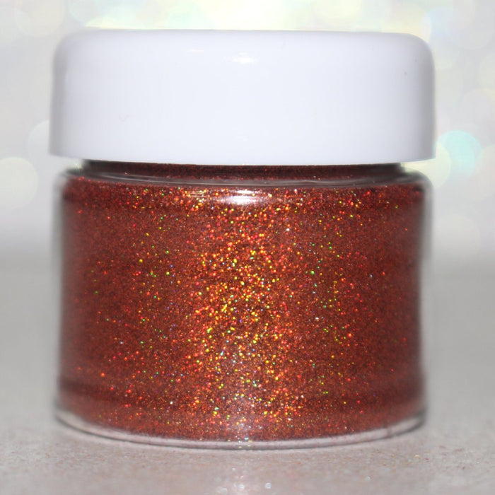 """Warm & Toasty"" Burnt Orange Holographic Glitter Eyeshadow by Glitterlambs.com #glittereyeshadow #eyeshadow #makeup #cosmeticglitter #glittermakeup #glitterlambs"