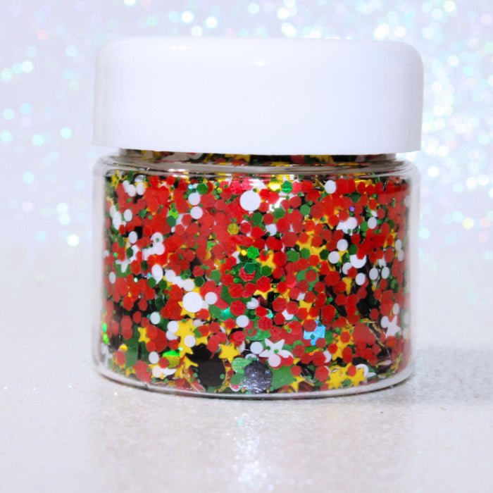 Martian Glitter. Great for crafts, nails, resin, tumbler cups, acrylic pouring, diy projects, body, hair, etc. Jar is 15mL. by GlitterLambs.com Heart Star Circle Diamond Green Red Black Yellow White Glitters