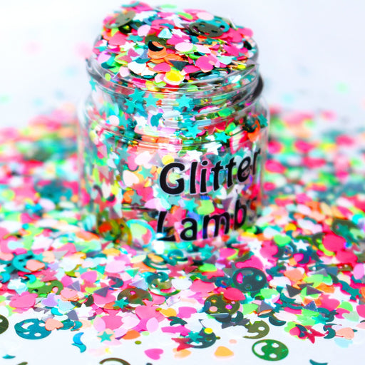 Who Gave My Unicorn LSD? Glitter by GlitterLambs.com Great for arts and crafts, nails, resin, acrylic pouring, diy projects, tumbler cups, etc.