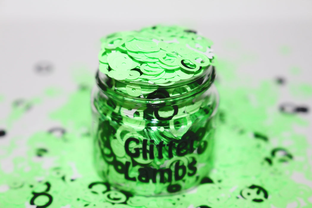 Witches Brew Glitter. Great for crafts, nails, resin, etc. 15 mL Jar. by Glitter Lambs GlitterLambs.com