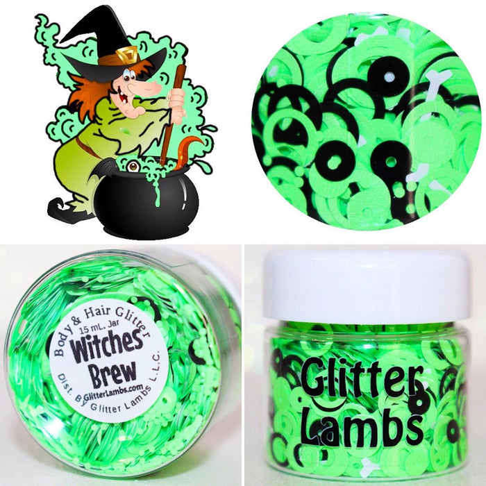 """Witches Brew"" Halloween Body Glitter by GlitterLambs.com"