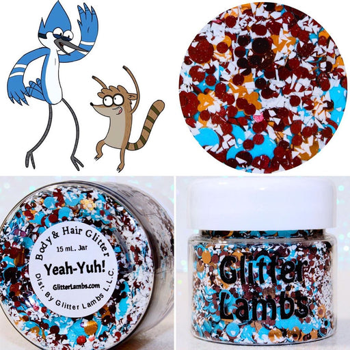 Yeah-Yuh! | Rigby And Mordecai Body and Hair Glitter