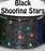 Black Shooting Stars Body Glitter GlitterLambs.com Chunky Holographic Body Glitter