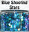 Blue Shooting Stars Body Glitter GlitterLambs.com Chunky Holographic Body Glitter