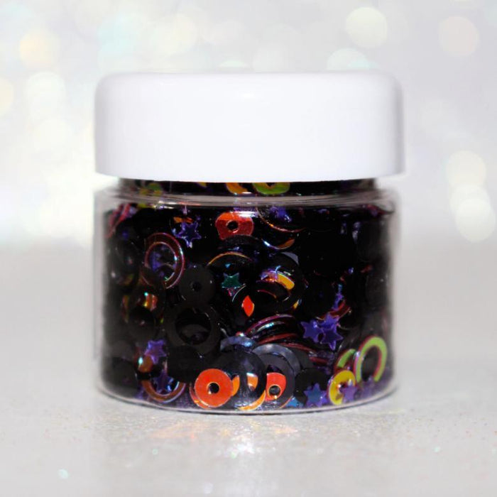 Casting Spells Glitter. Great for crafts, resin, nails, etc. Jar is 15 mL. By GlitterLambs.com