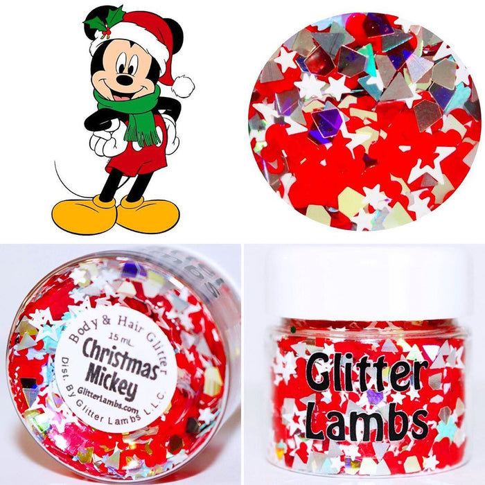 Christmas Mickey Body Glitter by GlitterLambs.com