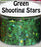 Green Shooting Stars Body Glitter GlitterLambs.com Chunky Holographic Body Glitter