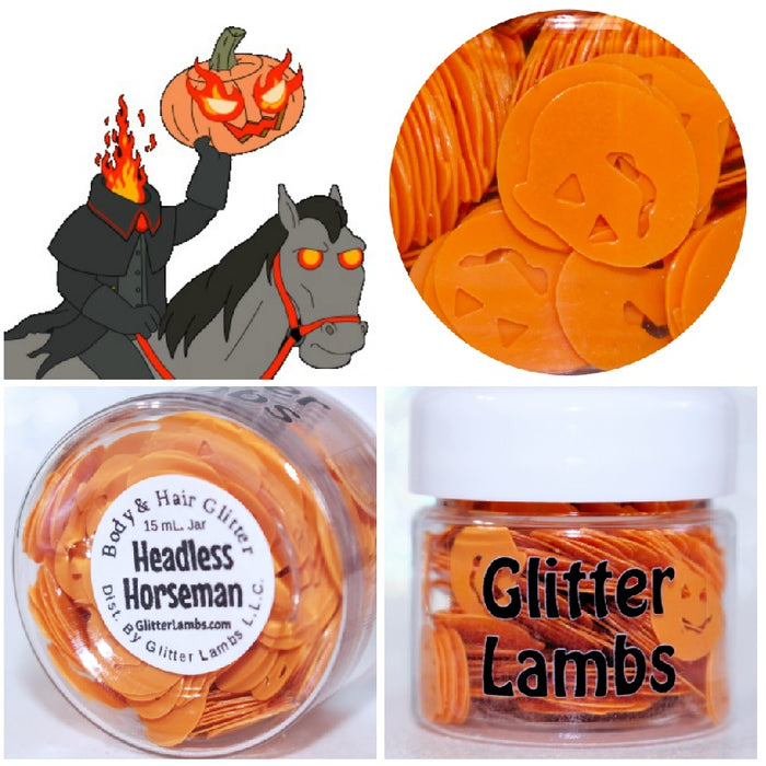 "Glitter Lambs ""Headless Horseman"" Halloween Body Glitter by GlitterLambs.com"