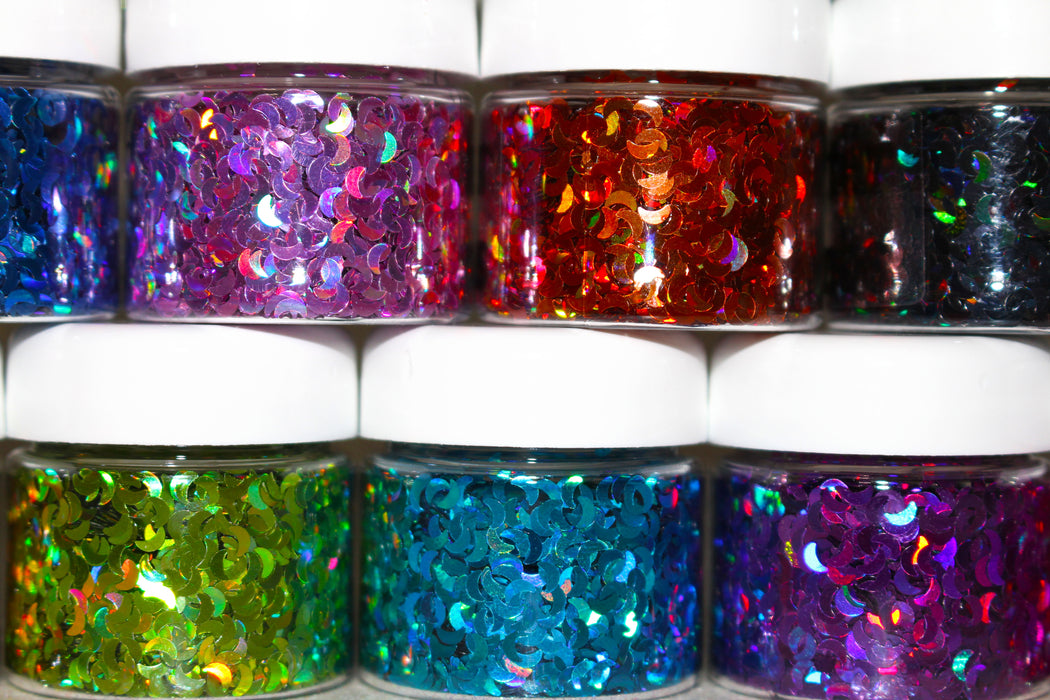 "Glitter Lambs ""Holographic Moon Collection"" Face, Skin & Hair Glitter Pots GlitterLambs.com"
