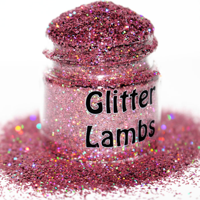 I Play With Stuffed Animals Pink Holographic Glitter by GlitterLambs.com