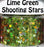 Lime Green Shooting Stars Body Glitter GlitterLambs.com Chunky Holographic Body Glitter