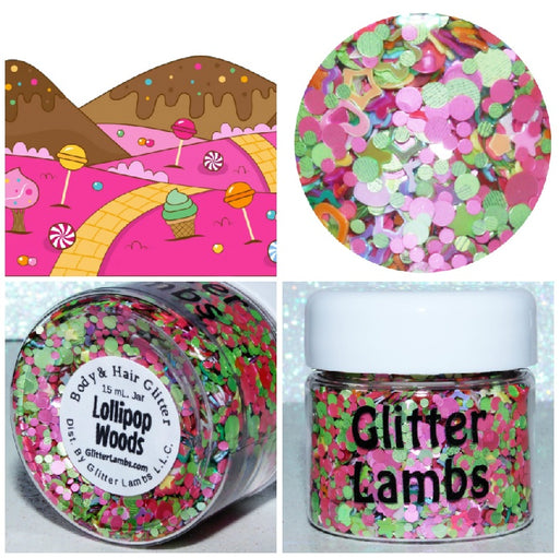 Lollipop Woods from the Candy Land Glitter Collection by Glitter Lambs | GlitterLambs.com ,  maderas de piruleta, tierra de dulces, resplandecer, maquillaje