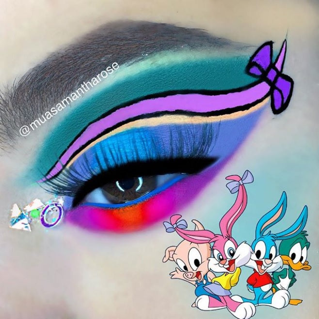 "Glitter Lambs ""Tooth Fairy Treats"" Chunky Body Glitter worn by @muasamantharose Glitter Eye Makeup Look Tiny Toons"