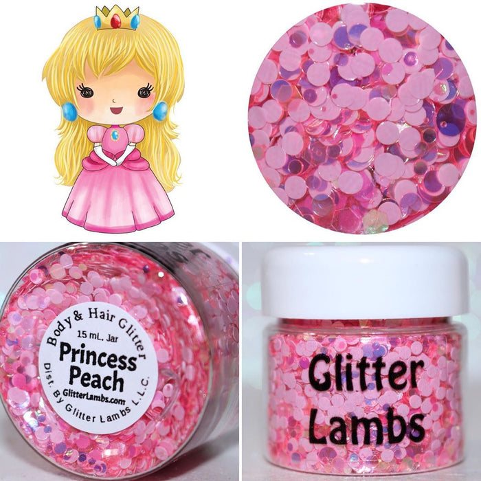 "Glitter Lambs ""Princess Peach"" Body Glitter by GlitterLambs.com"