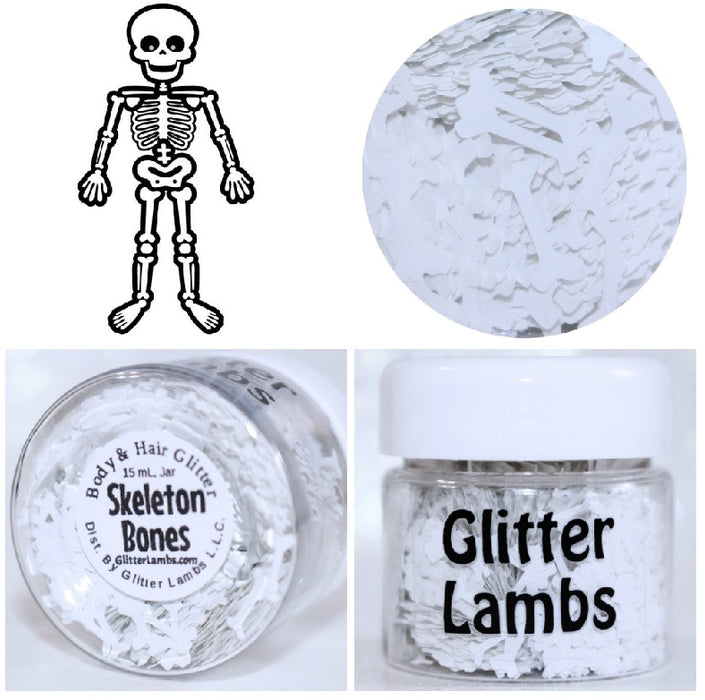 "Glitter Lambs ""Skeleton Bones"" Halloween Body Glitter by GlitterLambs.com"