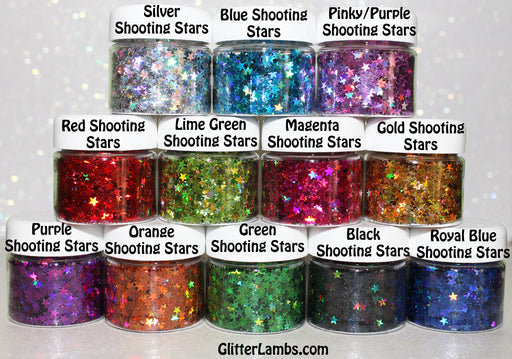 "Glitter Lambs ""Holographic Shooting Stars Collection"" Face, Skin & Hair Glitter Pots GlitterLambs.com"