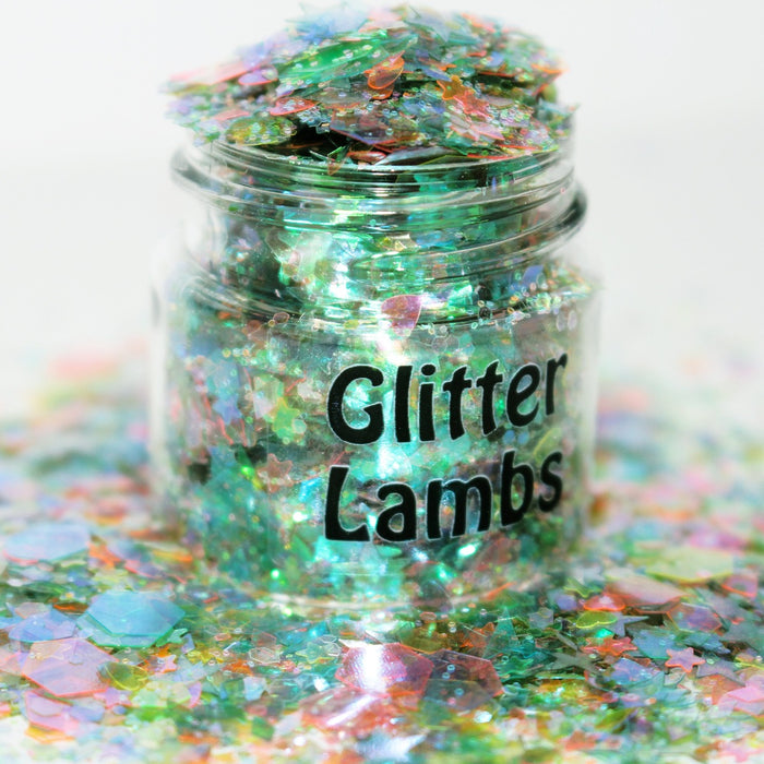 Swamp Mermaid Glitter.  Great for nails, crafts, resin, etc. by GlitterLambs.com