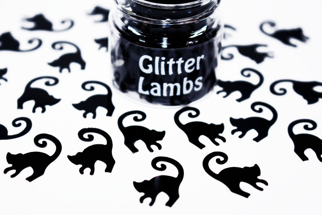 Thackery Binx Glitter. Huge Cats. Great for crafts, resin, etc. 15 mL jar. by Glitter Lambs glitterlambs.com