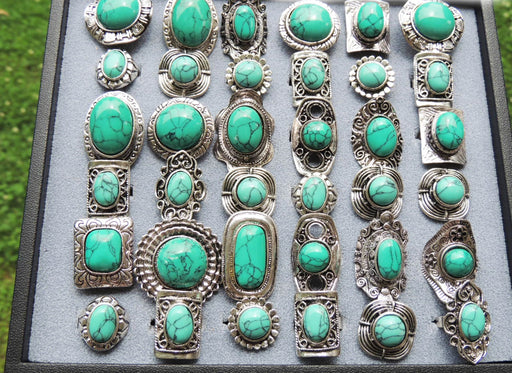 Jewelry Wholesale Lots Bohemian Boho Faux Fake Turquoise Rings by GlitterLambs.com Where Can I Buy Wholesale Jewelry?