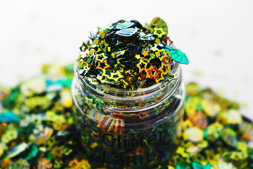 Zombie Mermaid Glitter. Great for crafts, resin, body, hair etc. by GlitterLambs.com