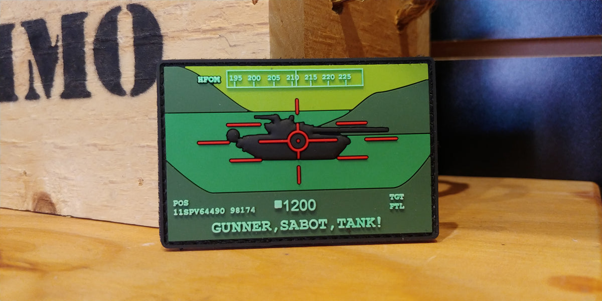 TAC 702 TANK Morale Patch M1 Gunner Diehard Company 1-221 Cavalry Squadron