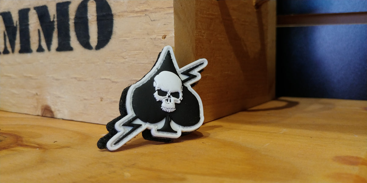 TAC 702 Spade Skull Death Card Morale Patch