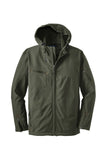 TEXTURED HOODED SOFTSHELL JACKET