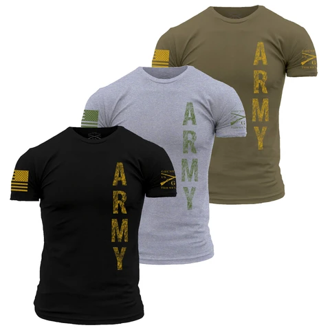 Grunt Style - Army Vertical Tee - Drop Ship