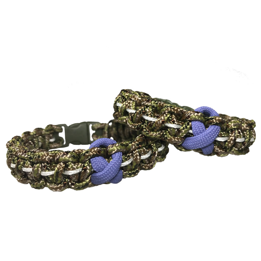 "TAC 702 Paracord Bracelet - ""Battle Cancer"""