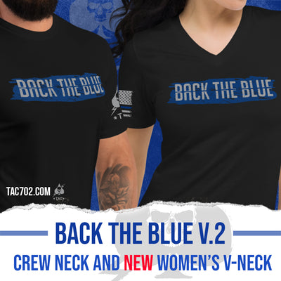 BACK THE BLUE V.2 Women's V-Neck Tee