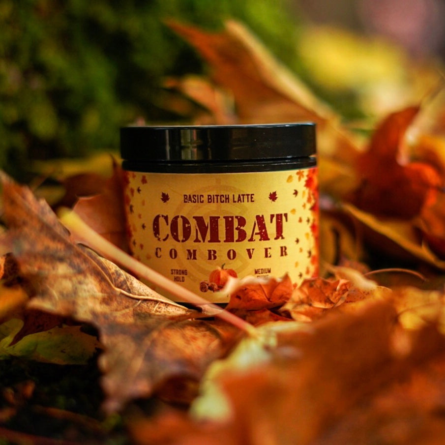 Combat Combover - Strong Hold Pomade - *Seasonal Fragrance* Basic Bitch Latte