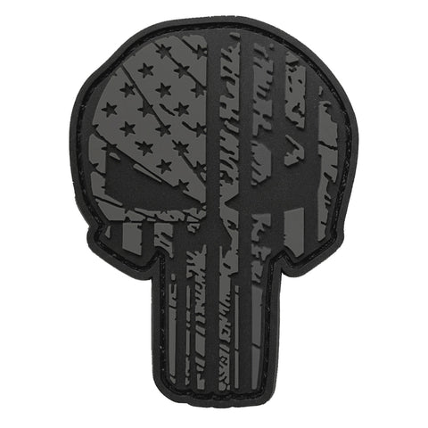 TAC 702 - Blackout Skull Patch