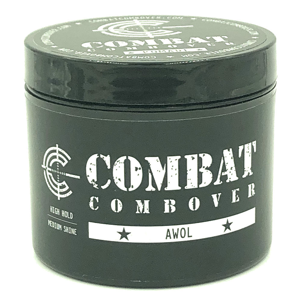 Combat Combover - Strong Hold Pomade - AWOL (fragrance free)