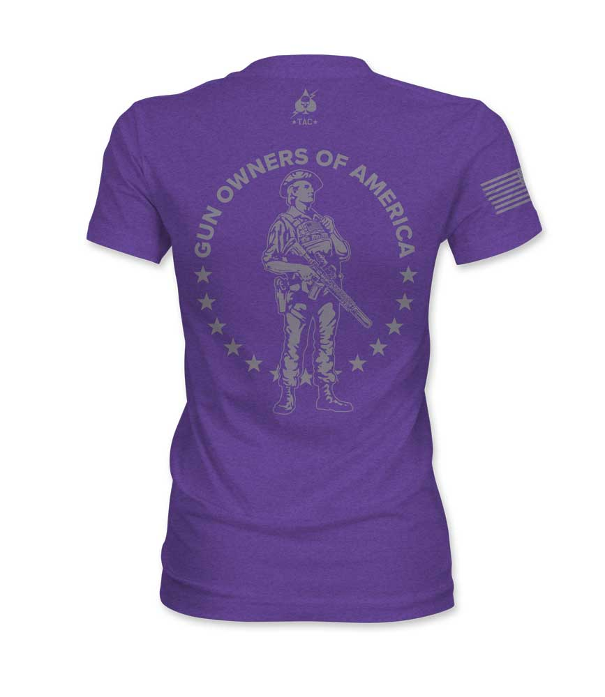 Exclusive TAC & GOA - Modern Minuteman Tee - Women's Purple Rush