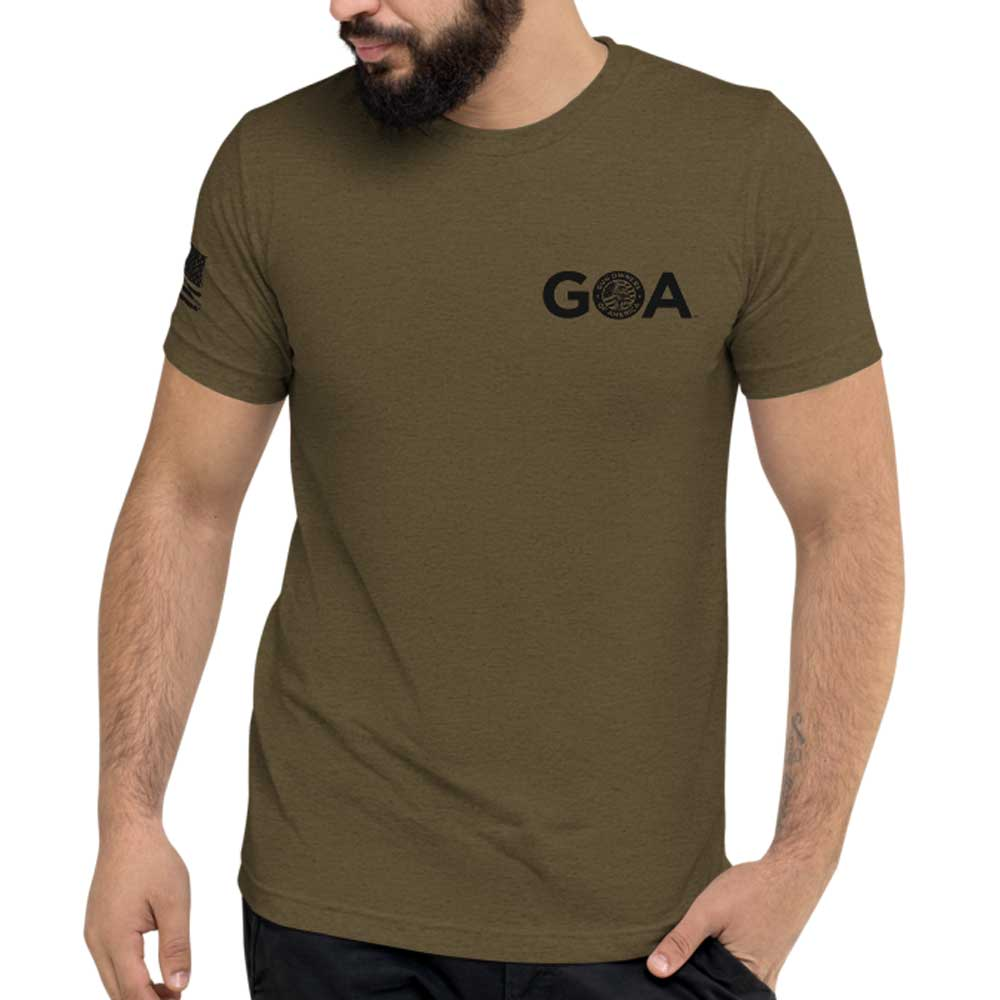 Exclusive TAC & GOA - Modern Minuteman Tee - Unisex Military Green