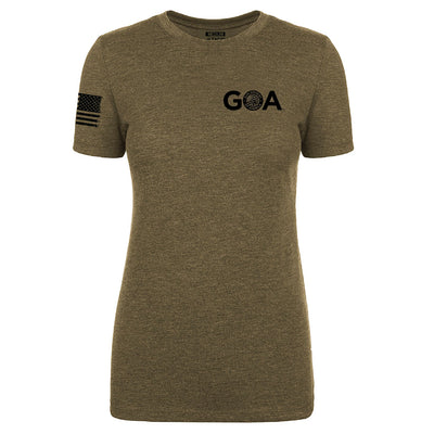 Exclusive TAC & GOA - Modern Minuteman Tee - Women's Military Green
