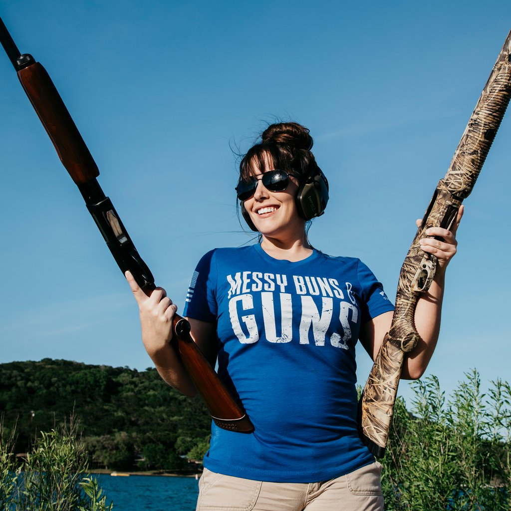 Grunt Style Women's Messy Buns And Guns Tee