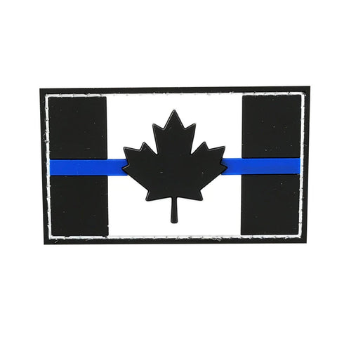 Blue Line Canadian Flag Patch