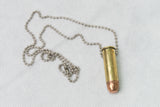 TAC 702 Lucky Shot Brass Bullet Necklace Ball Chain