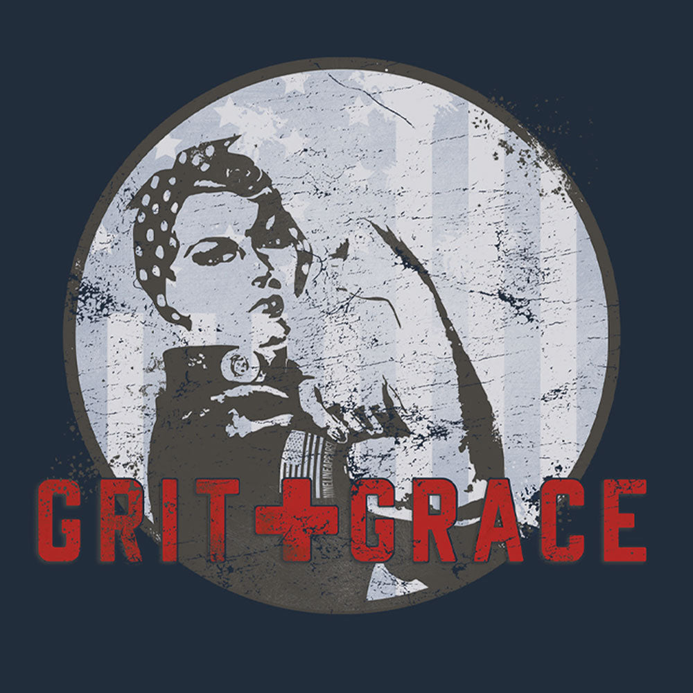 Exclusive TAC + Nine Line Apparel Women's Grit and Grace Tee