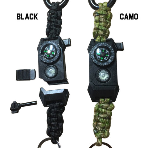TAC 702 Paracord Keychain - Deluxe Survival