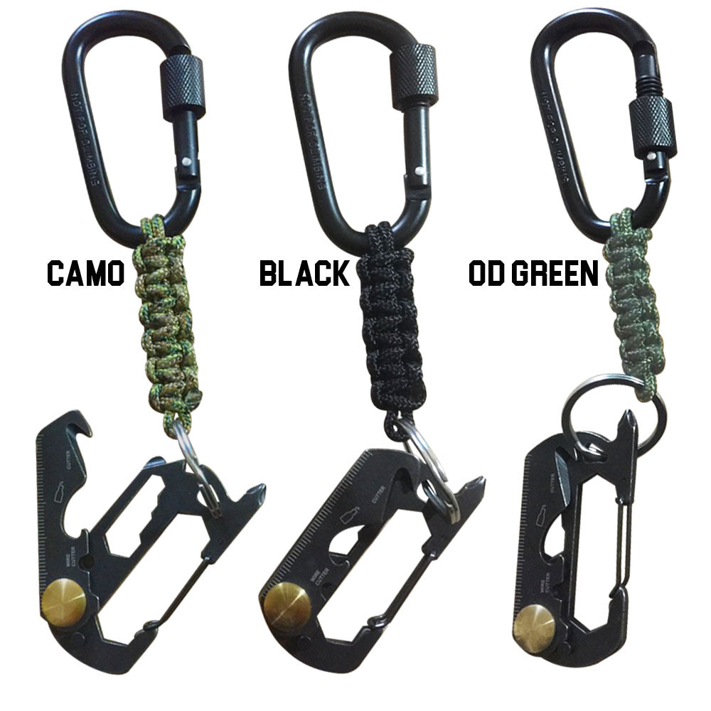 TAC 702 Paracord Keychain - Multi-tool FOB