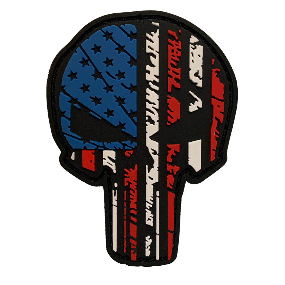 TAC 702 - Red White & Blue Skull Patch