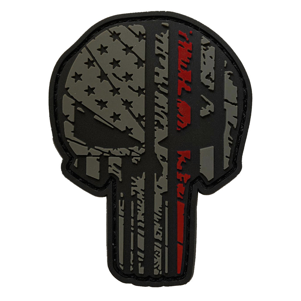 TAC 702 - Thin Red Line Skull Patch