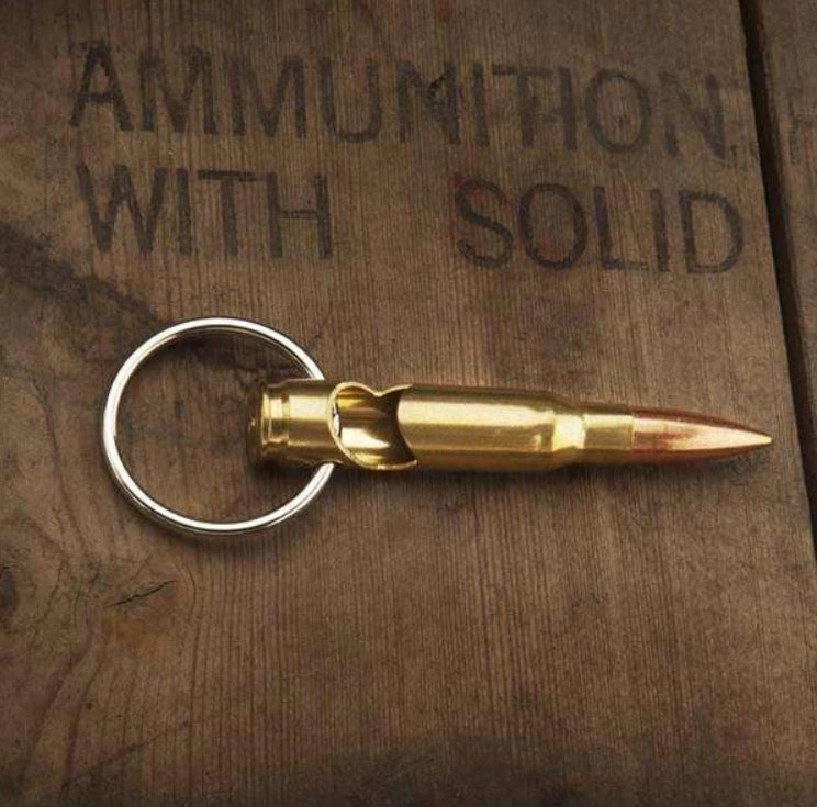 Lucky Shot .308 Bullet Bottle Opener Keychain
