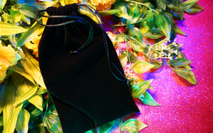 Black Velvet Tarot Cloth & Bag