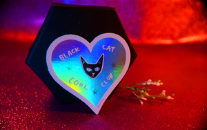 Black Cat Cool Club Sticker