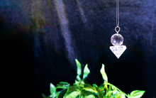 Sphere & Pyramid Clear Quartz Pendant